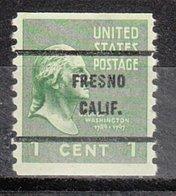 USA Precancel Vorausentwertung Preo, Bureau California, Fresno 839-61 - Préoblitérés