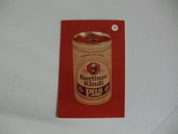 Drink Beer Berliner Kindl Pils Portugal Portuguese Pocket Calendar 1988 - Calendriers