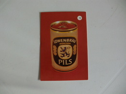 Drink Beer Löwenbräu Pils Portugal Portuguese Pocket Calendar 1988 - Calendriers