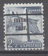 USA Precancel Vorausentwertung Preo, Bureau California, Fresno 1034-71 - Préoblitérés