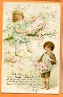 VAL095, Relief, Enfant, Cueuillette Des Fleurs De Pommier , Précurseur, Circulée 1905 - Sonstige
