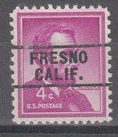 USA Precancel Vorausentwertung Preo, Locals California, Fresno 261 - Préoblitérés