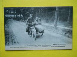 Moto ,Side-car ,Mlle Yvonne Degraine ,pneu Hutchinson - Motos