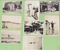 HYERES, été 1930 : 8 Photos : Hôtel à La Plage D'Hyères, Plage, Bains, Porquerolles, Giens - Lieux