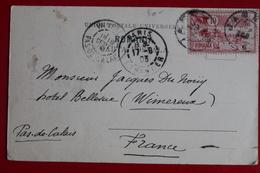 1903    CARTE  POSTALE D '  UN  MANEGE  MANUEL        POUR   LA  FRANCE       2  PHOTOS - 1881-1918: Charles I