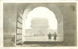 ASIE  CHINE (carte Photo Année 1930/40)  PALAIS DE ? - China