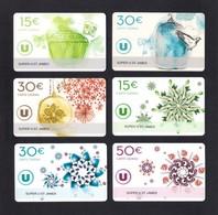 6  Carte Cadeau Super U  ST JAMES (50).   Gift Card. Geschenkkarte - Gift Cards