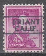 USA Precancel Vorausentwertung Preo, Locals California, Friant 728 - Préoblitérés