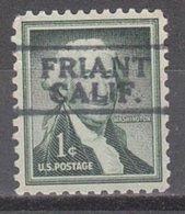 USA Precancel Vorausentwertung Preo, Locals California, Friant 811 - Préoblitérés