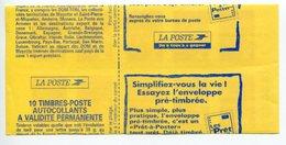 """DECOUPE A CHEVAL - CARNET TYPE MARIANNE """"DU 14 JUILLET"""" - TVP Rouge - Y&T N° 3085a - C1 - Variétés: Carnets"""