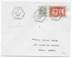 ALGERIE - 1959 - CACHET HEXAGONAL -  ENVELOPPE De HASSI MESSAOUD OASIS - Covers & Documents