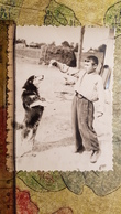 Petit Garçon - Young Little Boy With A Dog  - Vintage Photography 1970s  Old USSR Photo - Personnes Anonymes