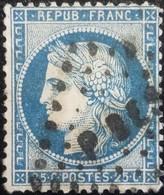 FRANCE Y&T N°60A Cérès 25c Bleu. Oblitéré Losange PBES? - 1871-1875 Ceres