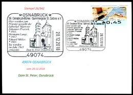 76768) BRD - Karte - SoST 49074 OSNABRÜCK Vom 28.12.2018 - Dom St. Peter, Osnabrücker Börse, Kirche - BRD