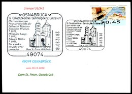 76768) BRD - Karte - SoST 49074 OSNABRÜCK Vom 28.12.2018 - Dom St. Peter, Osnabrücker Börse, Kirche - [7] République Fédérale