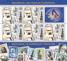 ROMANIA -2019 -  Romania, A European Treasure -  6 Minisheet -Feuilles With 5 Stamps+  Labels  MNH** - 1948-.... Republics