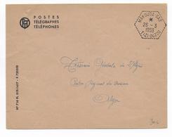 ALGERIE - 1959 - CACHET HEXAGONAL De SAS -  ENVELOPPE PTT De MAKOUDA (TIZI OUZOU) - Lettres & Documents