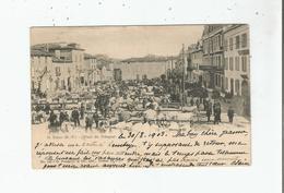 SAINT PALAIS (B P) 148  PLACE DU TRINQUET (MARCHE AUX BOEUFS) ET ANIMATION 1903 - Saint Palais