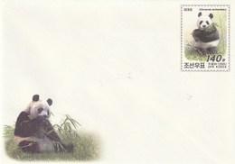 Entero Postal Postal Stationery Entiers-postaux - 2005 Giant Panda - Corea Del Norte