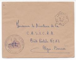 ALGERIE - 1959 - CACHET HEXAGONAL + ADMINISTRATIF De SAS -  ENVELOPPE PTT De LAPERRINE (TIZI OUZOU) - Lettres & Documents