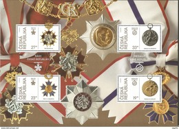 BF 2018 : 100 Ans De L'indépendance 1918 : Médailles Et Ordres Militaires - Blocs-feuillets