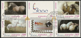 1999-ED. 3679 A 3684 En Bloque-CABALLOS CARTUJANOS '99-USADO - 1931-Hoy: 2ª República - ... Juan Carlos I