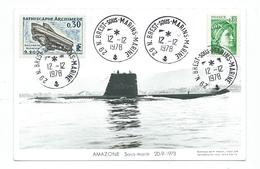 40 - CP  MARIUS BAR -  SOUS-MARIN AMAZONE (20-9-1973) - Guerre