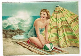 Baadster, Baigneuse Sur La Plage, Pin-up (pk52956) - Pin-Ups