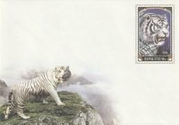 Entero Postal Postal Stationery Entiers-postaux - 2005 White Tiger - Corea Del Norte