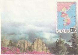 Entero Postal Postal Stationery Entiers-postaux - 2005 Map - Corea Del Norte