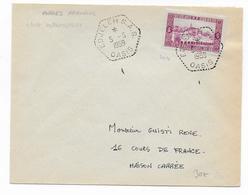 ALGERIE - 1959 - CACHET HEXAGONAL De SAS -  ENVELOPPE De EDJELEH OASIS - Lettres & Documents