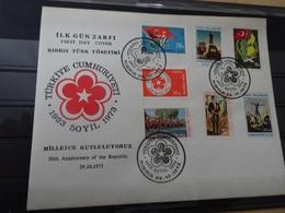 Türkisch Zypern Michel 1-7 FDC 29.10.73 (9846) - Zypern (Türkei)