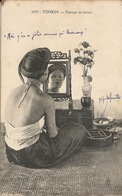 CPA TONKIN  Femme Au Miroir - China