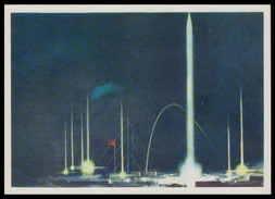 "4-296 RUSSIA 1976 POSTCARD Mint ARCTIC SCIENCE STATION ""KRENKEL"" OBSERVATORY FRNZ-JOSEF LAND BASE METEO CLIMATE ROCKET - Missions"