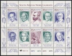 Südafrika 1996 - Mi-Nr. 1025-1034 ** - MNH - Kleinbogen - Nobel-Preisträger - Afrique Du Sud (1961-...)