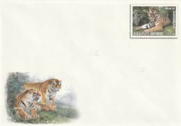 Entero Postal Postal Stationery Entiers-postaux - 2005 Animals Panthera - Corea Del Norte