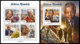 Sierra Leone 2015, Nelson Mandela, Klb + S/s MNH - Célébrités
