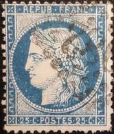 FRANCE Y&T N°60A Cérès 25c Bleu. Oblitéré Losange GC. - 1871-1875 Ceres