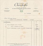 PARIS - CHRISTOFLE - ORFEVRERIE - PAVILLON DE HANOVRE 33 BOULEVARD DES ITALIENS - France