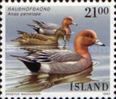 USED STAMPS Iceland - Birds - Ducks - 1990 - 1944-... Republik