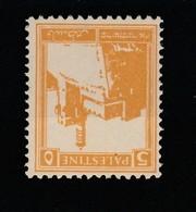 1927 PALESTINE STAMP 93 Ac Yellow MNH - Palestine
