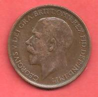 1 Penny , GRANDE BRETAGNE , Bronze , 1911 , N° KM # 810 , Etat: SUP - 1902-1971 : Post-Victorian Coins