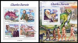 Sierra Leone 2015, Charles Darwin, Klb + S/s MNH - Célébrités