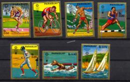 PARAGUAY 1971, NATATION, CYCLISME, VOILE, ESCRIME POIDS..., 7 Valeurs Poste, Neufs / Mint. R231 - Paraguay