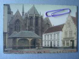 DIXMUDE : L'abside De S NICOLAS, Le Marché Aux Poissons, De Visch Myn, L'estaminet En 1902 - Diksmuide