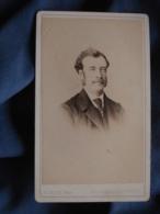 Photo CDV A. Perlat à Poitiers - Portrait Nuage Homme, Second Empire Circa 1870 L419 - Photos
