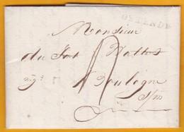 1812 - Marque Postale OSTENDE, Période Française Sur LAC Vers Boulogne Sur Mer, France  - Règne De Napoléon 1er - 1794-1814 (French Period)