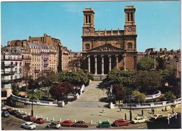 Paris: PEUGEOT 404, CITROËN 2CV, OPEL KADETT-B LS, REKORD-C, AUSTIN MINI, FORD CORTINA - Eglise Vincent-de-Paul - Toerisme