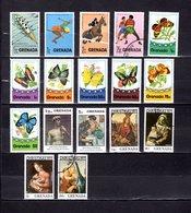 Grenada  1975  ,   Y&T  Nº   618/620-623-625/631-632/633-639/641-643 - Granada (...-1974)
