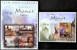 # Sierra Leone 2001**Mi.4025-29 75th Anniversary Of The Death Of Claude Monet , MNH  [23,20] 2. - Andere